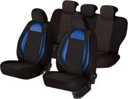 Umbrella Set huse scaun racing negru-albastru