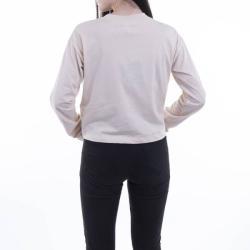 Champion Cerwneck Longsleeve T-Shirt 113365 YS094 Ecru M