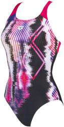 arena infinite stripe swim pro back one piece black/freak rose 40