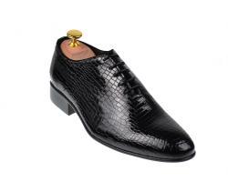 Ellion Pantofi barbati lux - eleganti din piele naturala negri - cod 024CROCO1N (024CROCON)