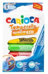 Carioca Темперни бои стик Solid 6 цвята