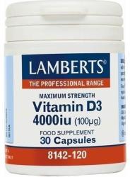 Lamberts Vitamina D3 4000 UI 100μg 30 caps - mypharmacyboutique