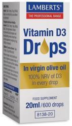 Lamberts vitamina D3 picături 20ml - mypharmacyboutique