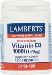Lamberts Vitamina D3 1000 IU 25μg 120 caps - mypharmacyboutique