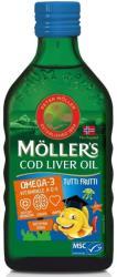 MOLLER'S Omega 3 ulei ficat de cod cu aromă tutti-frutti pentru copii, 250 ml, Moller' s