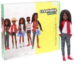 Mattel CREATABLE WORLD Papusa customizabila negresa GGG55