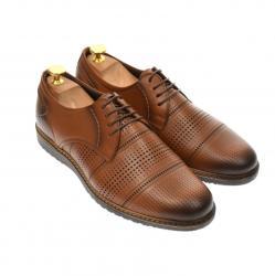 Ellion Pantofi barbati casual din piele naturala maro - 267M (267M)