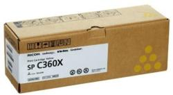 Ricoh SPC360X TONER YELLOW (EREDETI) Termékkód: 408253 (408253)