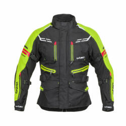 W-Tec Geaca Moto Barbati W-Tec Ventura Negru/Galben Florescent (21007) - sport-mag