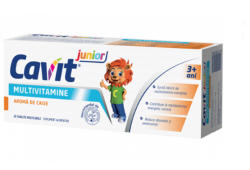 Biofarm Multivitamine cu aroma de caise, Cavit Junior, Biofarm, 20 tablete masticabile