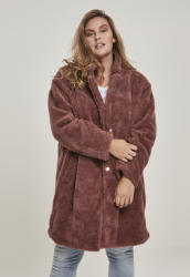 Urban Classics Дамско палто в розово Urban Classics Ladies Oversized Sherpa Coat UB-TB3058-01472 - Розов, размер S