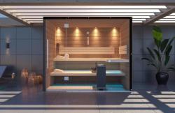 Sauna King® Sauna King Fedett Teraszra építhető Finnszauna 4-5 Főre