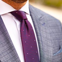 Elite Fashion Kék-Piros Apró Mintás Nyakkendő