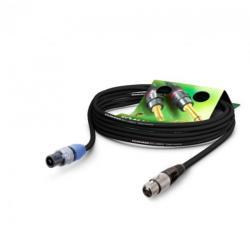 Neutrik Cablu audio speakon la XLR 3 pini 10m Negru, NEUTRIK ME22-225-1000-SW (ME22-225-1000-SW)