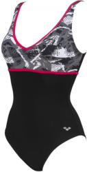 arena jane wing back one piece c-cup black/calypso 38
