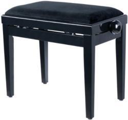 Soundsation - SBH-103V-BK fa zongorapad bársony ülőfelülettel fényes fekete