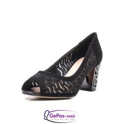 Epica Pantofi dama cu toc mediu din piele naturala de antilopa , EP8563T
