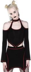KILLSTAR Tricou lung pentur femei, cu mâneci lungi (crop top) KILLSTAR - Techno Witch - KSRA002539