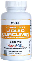 Weider Vitamin D3 and Liquid Curcumin 90 caps - suplimente-sport