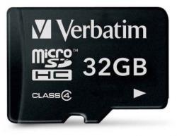Verbatim MicroSDHC 32GB class 4 44008