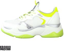 s. Oliver 005-23675-24-166 fehér neon fűzős sneaker sportcipő