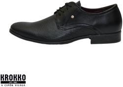 KLEER 357-1-f13 fekete fűzős alkalmi félcipő