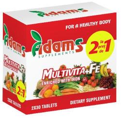 Adams Vision Multivita + Fe - 30 cpr 1+1 Gratis
