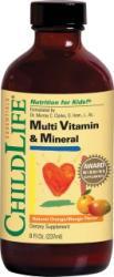 ChildLife Multi Vitamin & Mineral (gust de portocale/mango) - 237ml - ChildLife Essentials
