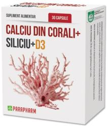 Parapharm Calciu din Corali + Siliciu + D3 - 30 cps