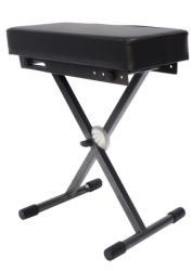 Proel EL50 Zongoraszék, EASY LOCK mechanika, antracit szürke, fekete vinyllel borított ülés max: 100 kg (EL50)