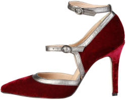 Pantofi cu toc femei V 1969 model GENEVIEVE, culoare Rosu, marime 36 EU
