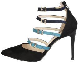 Pantofi cu toc femei V 1969 model SELINE, culoare Negru, marime 37 EU - imatrend - 175,99 RON
