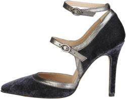 Pantofi cu toc femei V 1969 model GENEVIEVE, culoare Gri, marime 41 EU