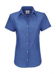 B&C Collection Női rövid ujjú blúz B and C Oxford SSL/women Shirt 6XL, kék Chip