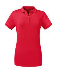 Russell Europe Női rövid ujjú galléros póló Russell Europe Ladies' Tailored Stretch Polo XL, Piros