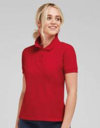 SG Lighting Női rövid ujjú galléros póló SG Ladies' Cotton Polo S, Piros