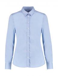 Kustom Kit Női hosszú ujjú blúz Kustom Kit Women's Tailored Fit Stretch Oxford Shirt LS S, Világos kék