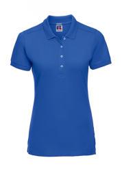 Russell Europe Női rövid ujjú galléros póló Russell Europe Ladies' Fitted Stretch Polo M, Azur kék