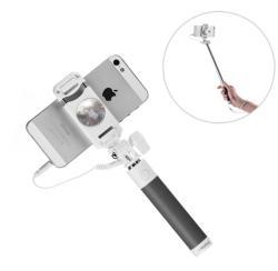 Proda mini vezetékes Selfie Stick, szelfi bot, fekete - tok-store