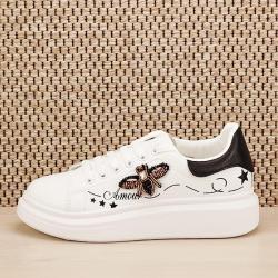 SOFILINE Sneakers alb cu brosa Riana (BO-592 BLACK A -38)
