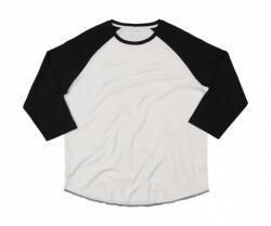 Mantis Uniszex 3/4-es ujjú póló Mantis Superstar Baseball T 2XL, Fehér/Fekete