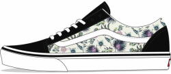 Vans Lány sportcipő UY Old Skool Paradise Floral VN0A4BUU4QG1, 29, fekete