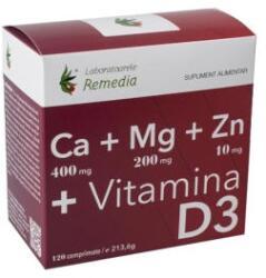 Remedia Ca+mg+zn +vitamina D3 120cpr