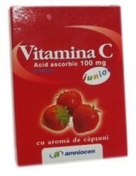 Amniocen Vitamina C Capsuni 100mg 20cpr, Amniocen