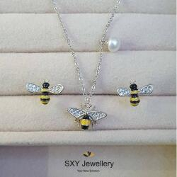 "SXY Jewellery Дамски сребърен комплект ""Пчелички""   ss01374"