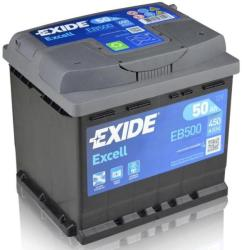 Exide Excell EB500 50Ah 450A right+ (EB500)