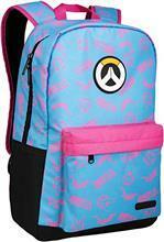JINX Overwatch D. VA Splash Backpack Blue/Pink