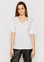 Lagerfeld Tricou Double V Neck 211W1701 Alb Regular Fit