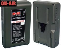 ON-AIR Baterie V-Lock - Li-Ion - 14, 8V - 11A - 160W - Power Tap & USB - Waterproof