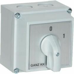 Ganz KK KKM0-20-6002 BE-KI kapcsoló, tokozott kézikapcsoló 20A, IP65, 3P, Ganz